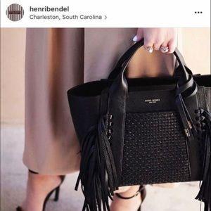 Henri Bendel Brunch Tote - Genuine Black Leather